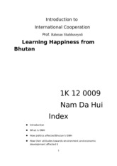 Introduction to international cooperation NamDahui