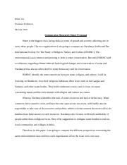 Comparative Research Paper Proposal.doc