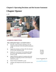 Chapter3 Operating Decisions and the Income Statement