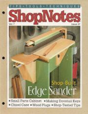 shopnotes 37 vol 07 shop built edge sander