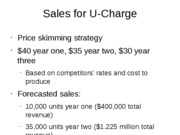 Sales for U-Charge