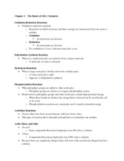 09-27-11 Biology Chapter Two Notes