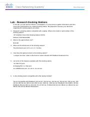 Lab - Research Docking Stations.docx