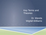Key Terms and Theories 2015