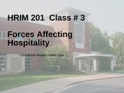 Aug-27 Forces Affecting Hospitality