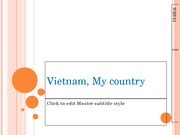 Vietnam, My country