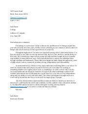 Fin Lit Application Letter