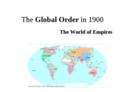 CH. 1 The Global Order in 1900