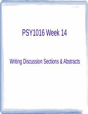 PSY1016 Discussion Sections Lecture Week 14 (1)