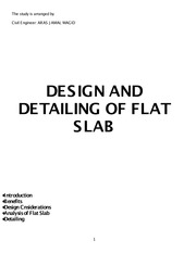 DESIGN AND DETAILING OF FLAT SLAB