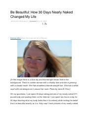 Be Beautiful. How Thirty Days Nearly Naked Changed my Life By Denise Jolly.docx