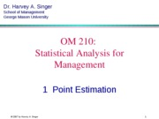 Section 8 Operation Management Statistics