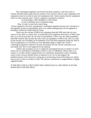 Cosmological Arguement