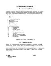 Chapter 1 Study Guide - Prehistoric Past.doc