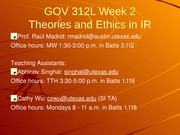 Gov 312L Fall 2014 Week 2 overheads