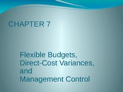 CH07 Flexible Budgets, Direct-Cost Variances and Management Control part 1