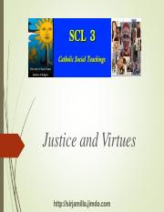 Justice and Virtues