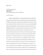 Persuasive Letter Example