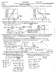 Graphing Equations Exam and Answers