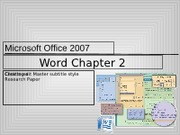 Word Chapter 2