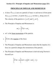 [D] Section 15.1 - Principles of Impulse and Momentum