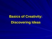 04-Discovering Ideas-Improving Creativity