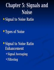 CHAPTER 5 - SIGNAL TO NOISE.ppt