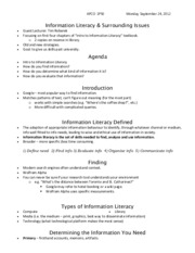 Information Literacy & Surrounding Issues