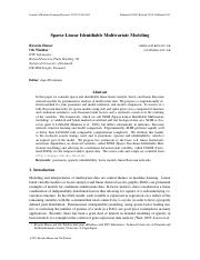 Sparse Linear Identifiable Multivariate Modeling