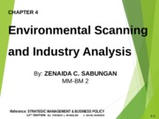 CHAPTER 4 - ENVIRONMENTAL SCANNING AND INDUSTRY ANALYSIS