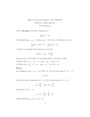 Math 117 Assignment Solutions 6