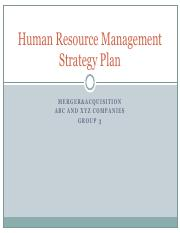 Human Resource Management Strategy Plan