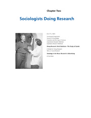 Chapter 2 - Sociologist Doing Research