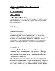 LAW232 EVIDENCE Case Notes Set 2 (Topics 3-6).docx