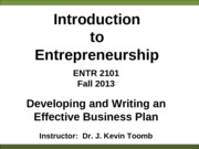 ENTR_2101_Writing_a_Business_Plan_Fall_2013