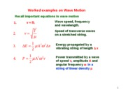 Lesson 5.2b Worked examples on wave motion