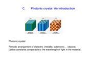 Lecture 5 - Photonic crystal An Introduction