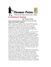 Common Sense Excerpt - annotated FV