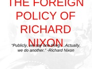 Nixon Foreign Policy