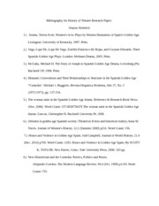 Bibliography for History of Theatre Research Paper