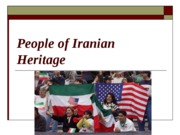 People of Iranian Heritage