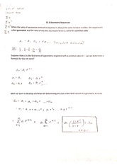 geometric and arithmetic sequences notes