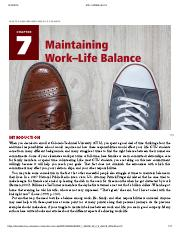 Creating Academic and Career Success - CHAPTER 7_ MAINTAINING WORK–LIFE BALANCE