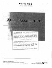 ACT 2005 December (63C)