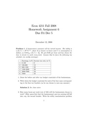 ECON 4211 Fall 2008 Homework 6 Solutions