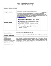 Test 2 Section 3.2 Study Guide Template