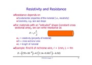 Resistivity and Resonance notes
