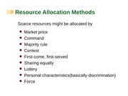 Chapter 06 Resource Allocation Methods