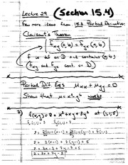 Lecture 29 (Class Notes)