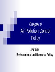 Chapter 9 - air pollution (2)